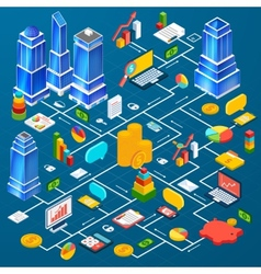 Office city infrastructure planning infographic vector image