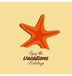 starfish beach sand icon vector image vector image