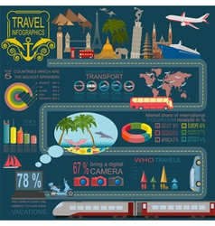 Travel Vacations Beach resort infographics vector image vector image