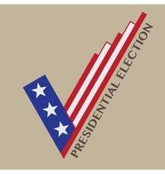 USA Presidential Election Design vector image