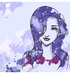 Watercolor likeness vector image