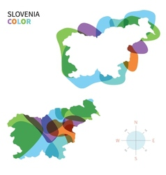Abstract color map of Slovenia vector image