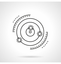 Abstract star system model flat line icon vector image