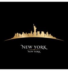 New york city skyline silhouette vector