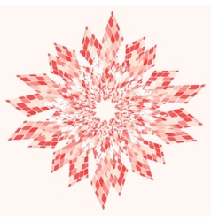 Star Abstract Pink vector image vector image