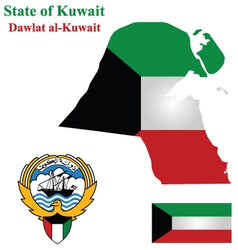 State of Kuwait vector image vector image
