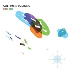 Abstract color map solomon islands vector