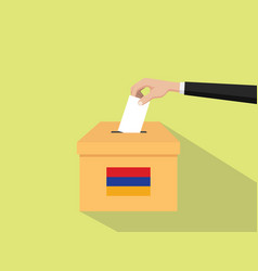 armenia vote election concept with vector image