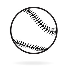 Baseball black and white vector