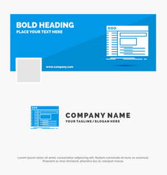 Blue business logo template for admin console vector