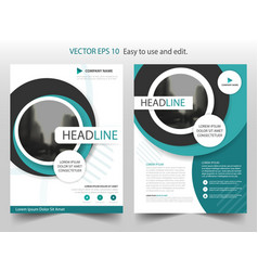 blue circle brochure annual report flyer design vector image