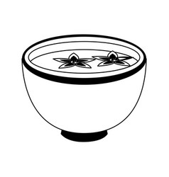 bowl of flowers vector image vector image