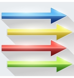 Bright arrows vector