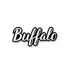 Buffalo calligraphy template text for your design vector