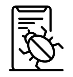 Bug in app icon outline style vector