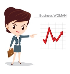 Business woman character skirt suit vector