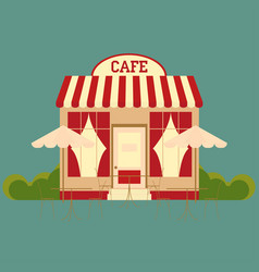 cafe street shop building vector image