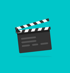 Clapperboard flat style clapperboard icon vector
