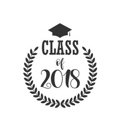 Class 2018 template design vector