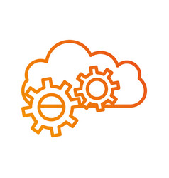 cloud computing gears solution system vector image