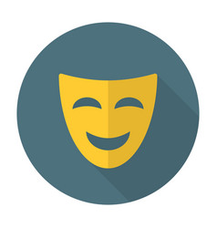 Comedy mask flat icon vector