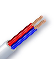 copper double wire insulated in white red vector image