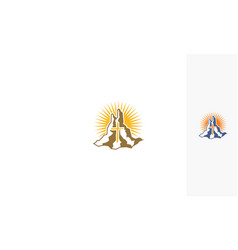 Cross religious logo icon vector