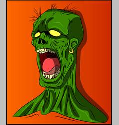 dead head horror zombie undead vector image