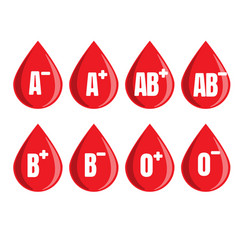 donate drop blood logo donor concept blood icon vector image