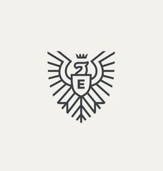 eagle heraldic logo vector image