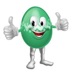 easter egg cartoon man vector image