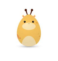 easter giraffe egg vector image