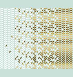Elegant gold and pale green leaf pattern vector