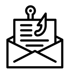 Email phishing icon outline style vector
