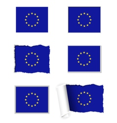 European Union flag set vector image