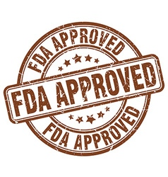 fda approved brown grunge round vintage rubber vector image