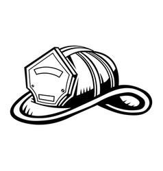 Firefighter helmet vector