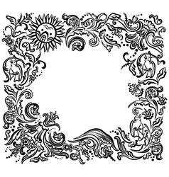 frame garden vector image