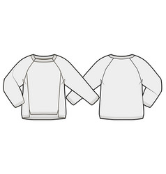 Front and back view a knitted pullover vector
