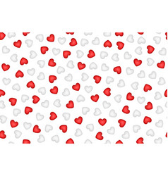gentle white hearts seamless pattern vector image