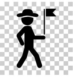 Gentleman flag guide icon vector