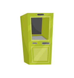 green cash dispenser automated teller machine atm vector image