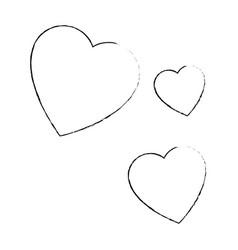 Hearts icon image vector