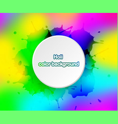 holi color background for festival india vector image