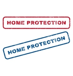 Home Protection Rubber Stamps vector