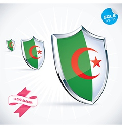 I Love Algeria Flag vector