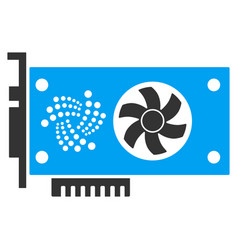 Iota video gpu card flat icon vector