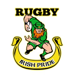 Irish rugby pride vector