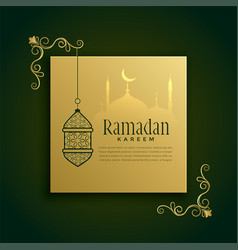 islamic ramadan kareem greeting decoration vector image
