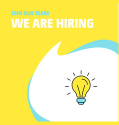 join our team busienss company idea we are hiring vector image